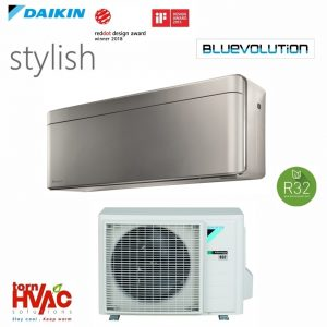 Aer conditionat Daikin Stylish FTXA-BS+RXA-A 9000-18000 BTU Split Inverter Argintiu R32