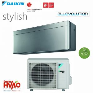 R32 Bluevolution Aer conditionat Daikin Stylish FTXA42AS+RXA42A 15000 Btu Argintiu cu negru