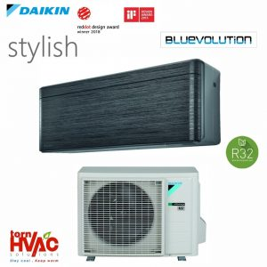 R32 Bluevolution Aer conditionat Daikin Stylish FTXA25AT+RXA25A 9000 Btu Negru
