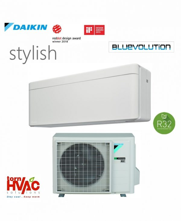R32 Bluevolution Aer conditionat Daikin Stylish FTXA42AW+RXA42A 15000 Btu Alb