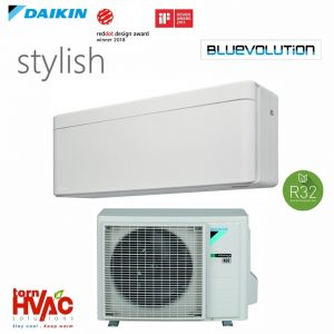 R32 Bluevolution Aer conditionat Daikin Stylish FTXA25AW+RXA25A 9000 Btu Alb