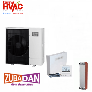 New Model 2018 Pompa de caldura Aer Apa Mitsubishi Electric Zubadan 8 kW PUHZ-SHW80YAA+Interfata PAC-IF032+Schimbator-splitat