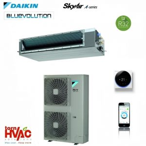 R32 Aer conditionat Daikin SkyAir Advance-series Duct cu ESP ridicat FDA125A+RZAG125MY1 43000 btu