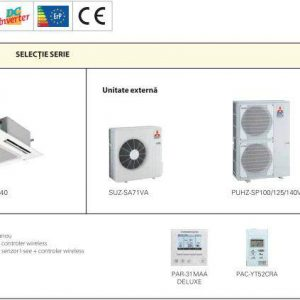 Aer conditionat Mitsubishi Electric Inverter PLA-SP100BA+PUHZ-SP100VHA Caseta 34000 BTU