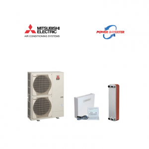 Pompa de caldura Aer Apa MITSUBISHI ELECTRIC Power Inverter 10 Kw PUHZ-SW100VHA+interfata PAC-IF061+schimbator de caldura V25THX50-splitat