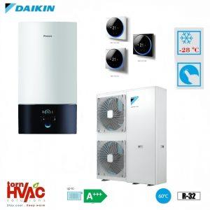 Pompa de caldura aer-apa Daikin Altherma 3 EABX16D9W+EPGA11DV 11 kW hydrobox Alb R32 -28 grade Celsius
