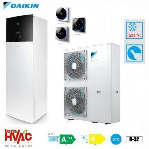 Pompa de caldura aer-apa Daikin Altherma 3 EAVX16S18D9W+EPGA14DV 14 kW hydrotank Alb R32 -28 grade Celsius