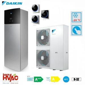 Pompa de caldura aer-apa Daikin Altherma 3 EAVX16S18D6VG+EPGA11DV 11 kW hydrotank Gri argintiu R32 -28 grade Celsius