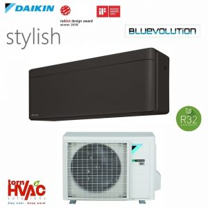 Aer-conditionat-Daikin-Stylish FTXA-BB+RXA-A 9000-18000 BTU, Negru mat